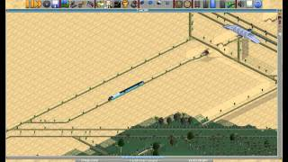 OpenTTD 32 bpp - Sahara Desert Hard and Hot scenario