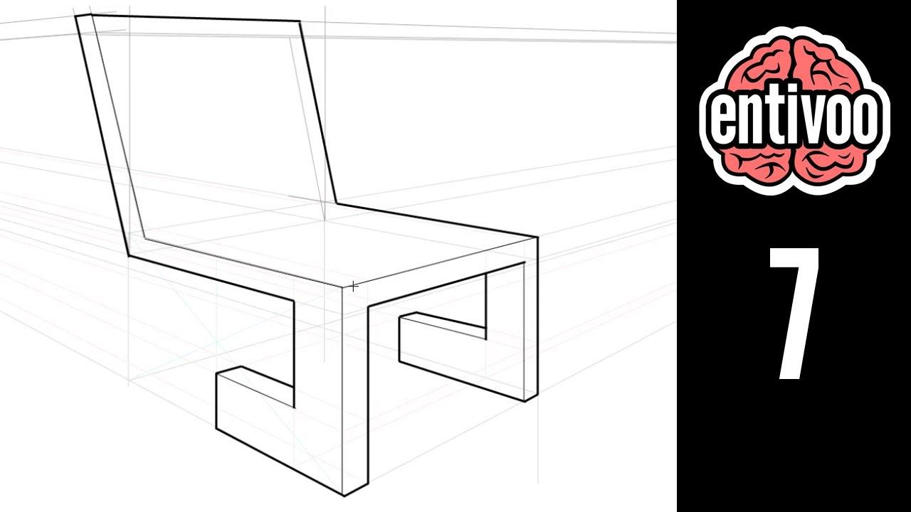 Aprende a dibujar una silla en perspectiva a dos puntos de for Sillas para dibujar facil