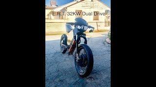 E.R.T. Dual Drive 32KW Ebike vs random drug addict