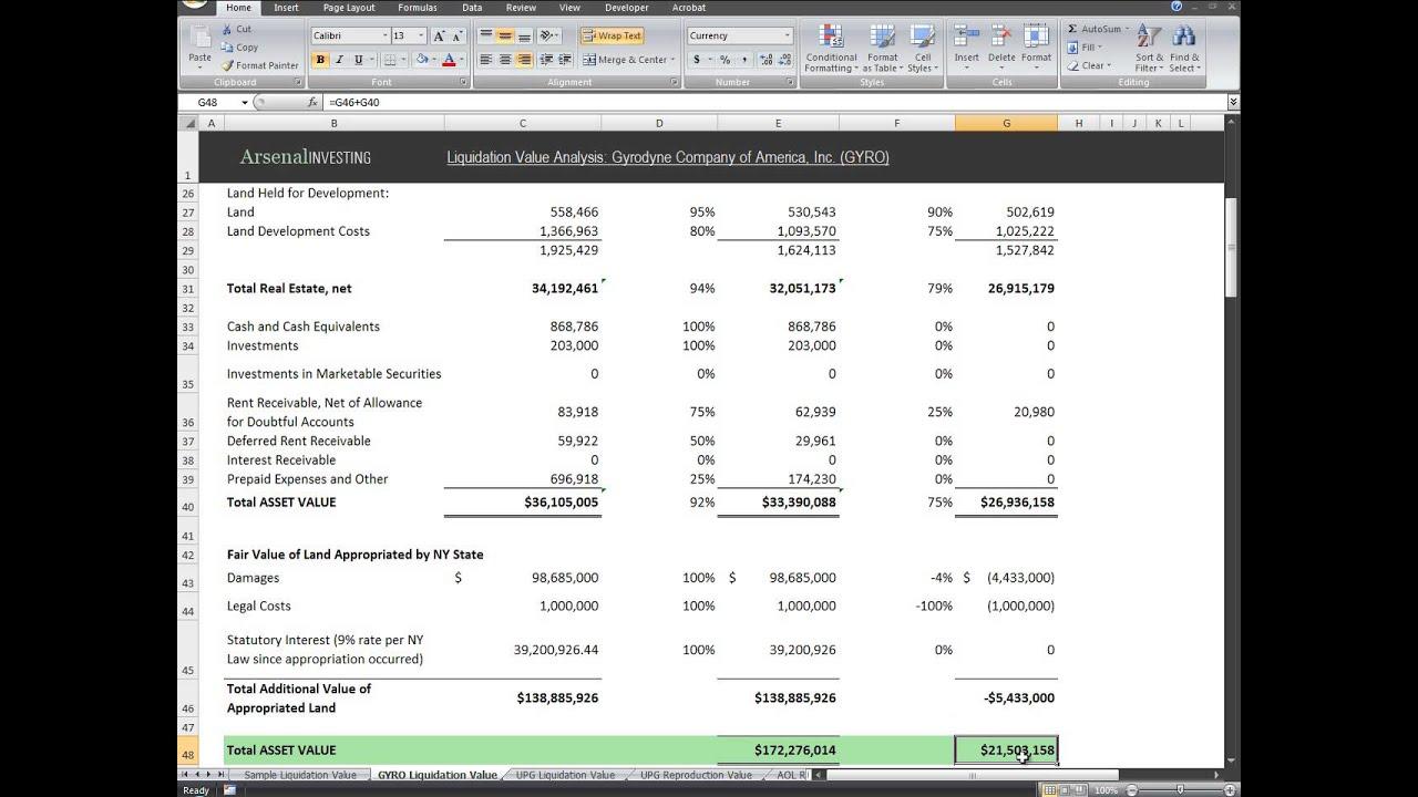 Liquidation Value Analysis Gyro Sample Chapter 8