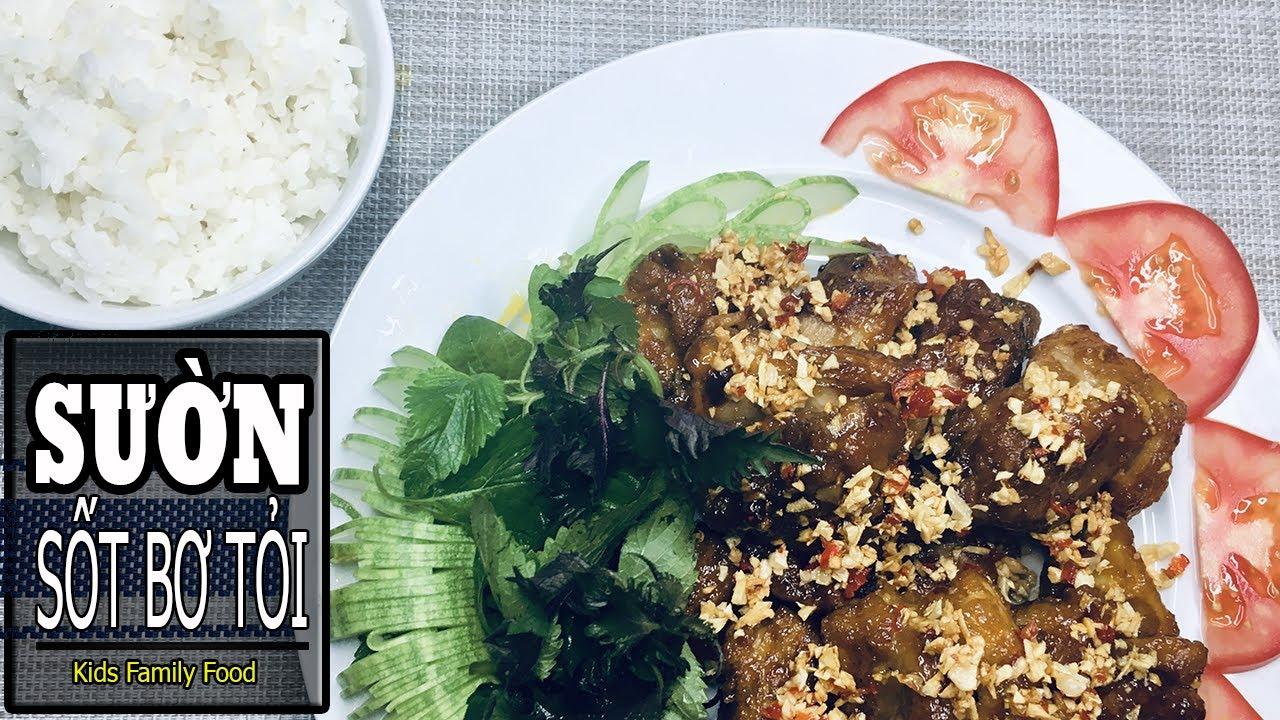 Sườn Heo Sốt Bơ Tỏi   Cách Nấu Sườn Non Sốt Bơ Tỏi Siêu Ngon   ASMR Cooking   Kids Family Food