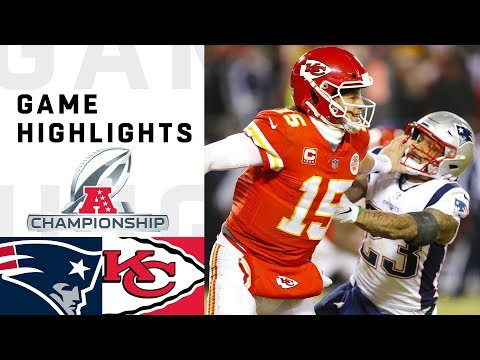 Patriots vs Chiefs AFC Championship Highlights  NFL 2018 Playoffs