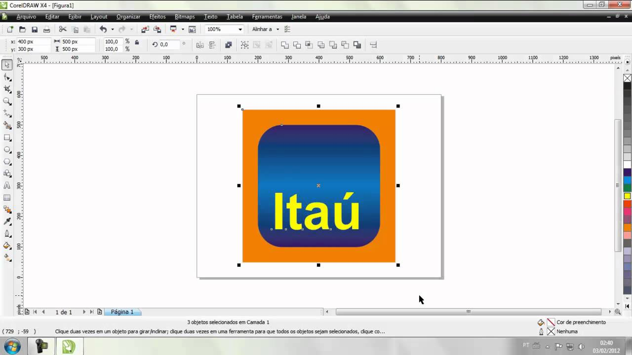 Coreldraw logo do banco ita blog daniel youtube for Banco itau