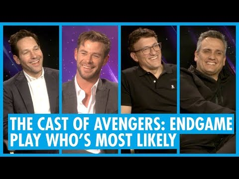Who's Most Likely - Avengers: Endgame - Chris Hemsworth, Paul Rudd & Russo Brothers Interview