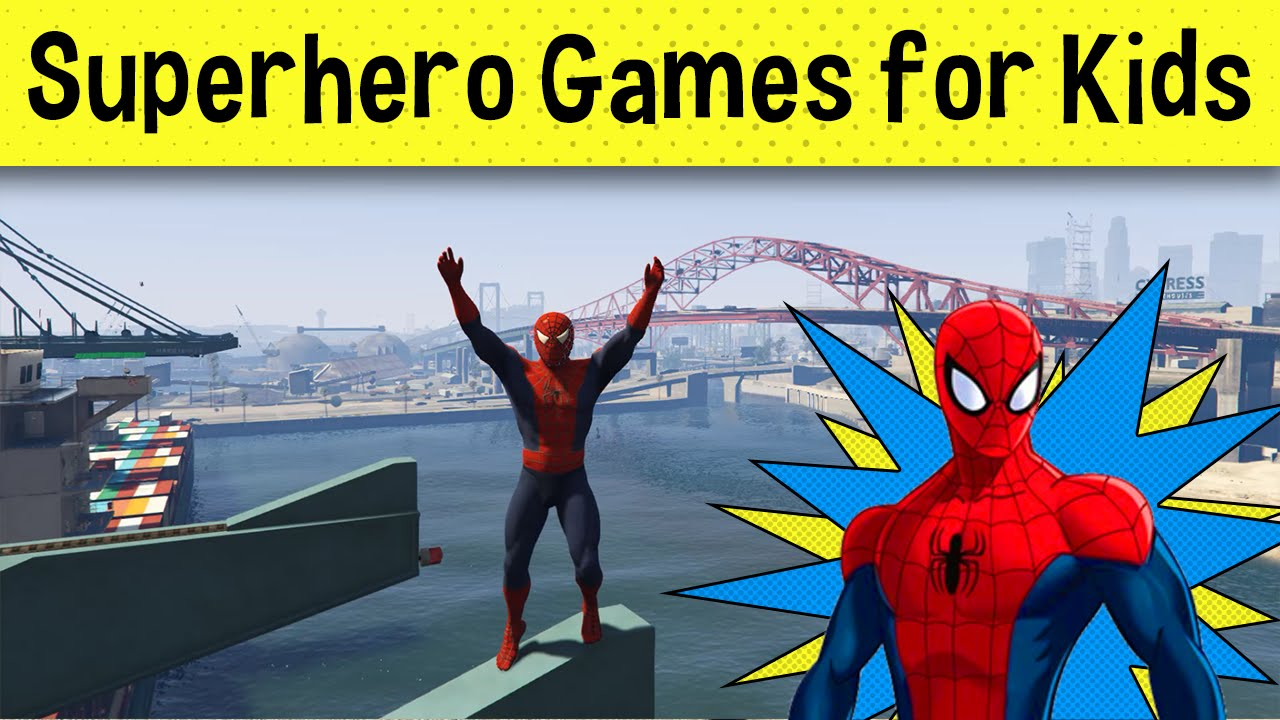 cartoon fast cars games with spiderman video games for kids and