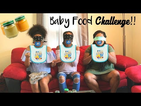 BABY FOOD CHALLENGE!!!!! She throws up!!