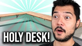 BUILDING A MASSIVE FLOATING DESK (5 desks combined!!) PART 1