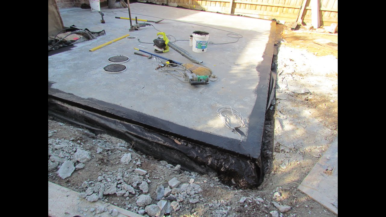How To Waterproof A Concrete Slab You