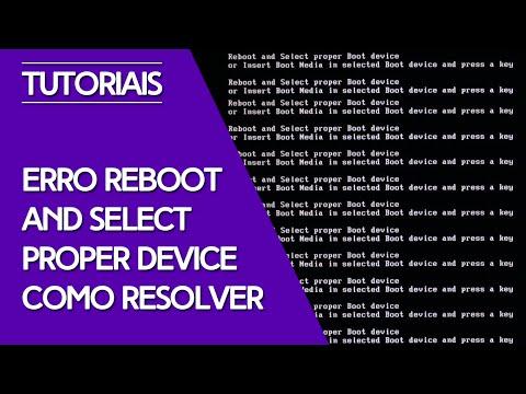 Como solucionar Reboot and select proper boot device or