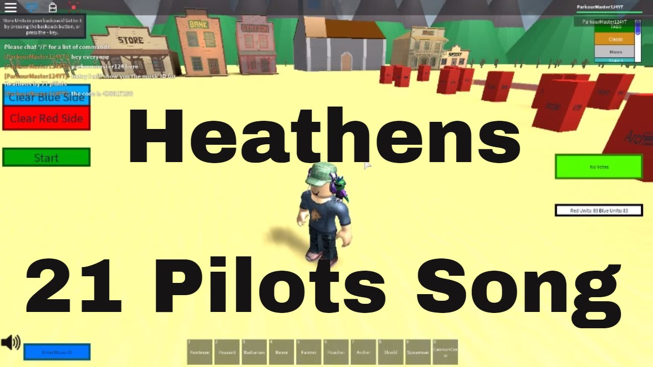 Roblox Music Id For Heathens By Twenty One Pilots - heathens roblox code id