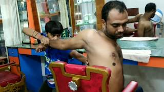 upper body massage therapy by indian barber powerful relaxing asmr