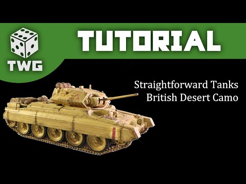 Bolt Action Tutorial: How To Paint WW2 British Desert Camo - Crusader A15