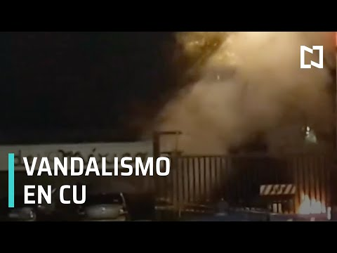 Jóvenes realizan actos vandálicos en la UNAM - Despierta