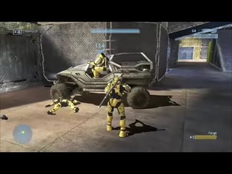 Halo 3 - Driving The Troop Warthog On The Pit (REVISITED)