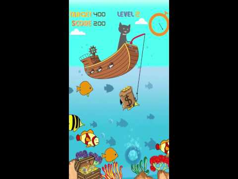 Magnetic cat fishing game youtube for Fish game for cats