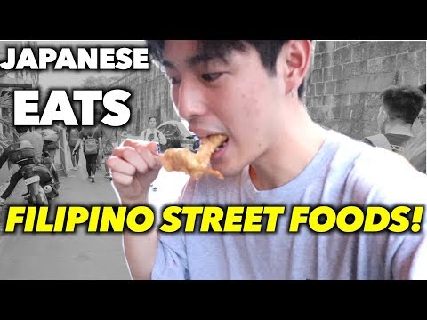 FILIPINO STREET FOOD TOUR!!!!!(JAPANESE REVIEW)