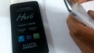 Alcatel Hero 8020 Accesorios y Funciones Basicas
