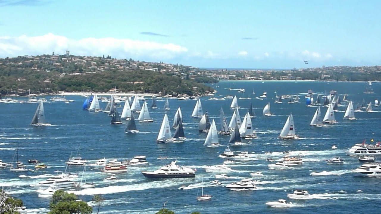 Sydney To Hobart Yacht Race Start Boxing Day 2013 YouTube