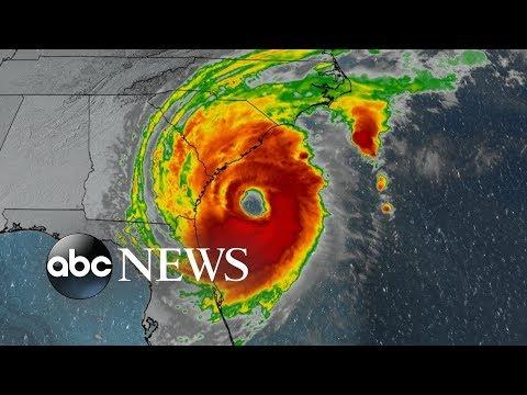 Hurricane Dorian lashes