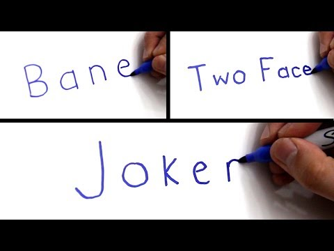 Artist Turns WORDS Into PICTURES!  Drawing BATMAN VILLIANS From Their NAMES!