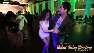 Reda & Amira - salsa dancing @ RABAT SALSA MEETING 2015