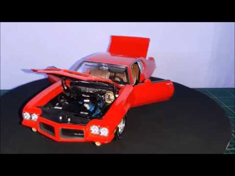 Unboxing and review of a 1:18 1972 Pontiac GTO, by GMP