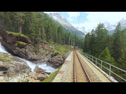 ★ 4K Tirano - St. Moritz summer cab ride, Italy to Switzerland [06.2020]