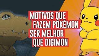 Motivos que fazem Pokémon ser melhor que Digimon