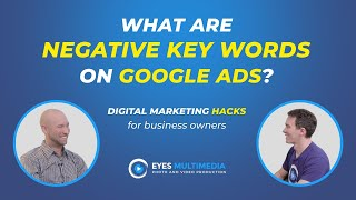 What are negative key words on Google Ads?