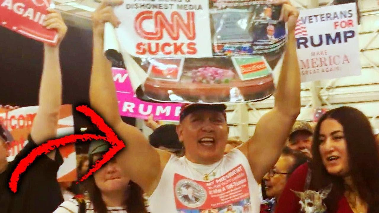 Suspected Mail Bomber Seen Holding 'CNN Sucks' Poster at Trump Rally