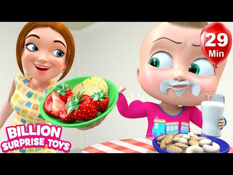 Eat Healthy Foods for Strength + More Nursery Rhymes & Kids Songs -  BillionSurpriseToys