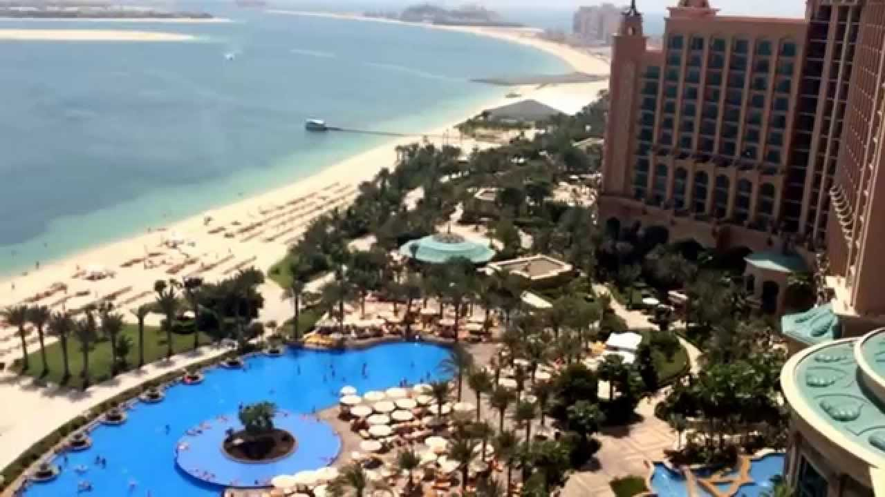 Hotel atlantis the palm beach swimming pool youtube - Palm beach pool ...