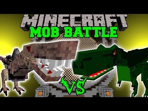 NASTYSAURUS VS T-REX - Minecraft Mob Battles - OreSpawn Mods
