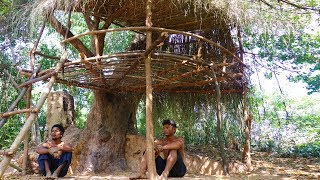 primitive tool build primitive tree house in forest