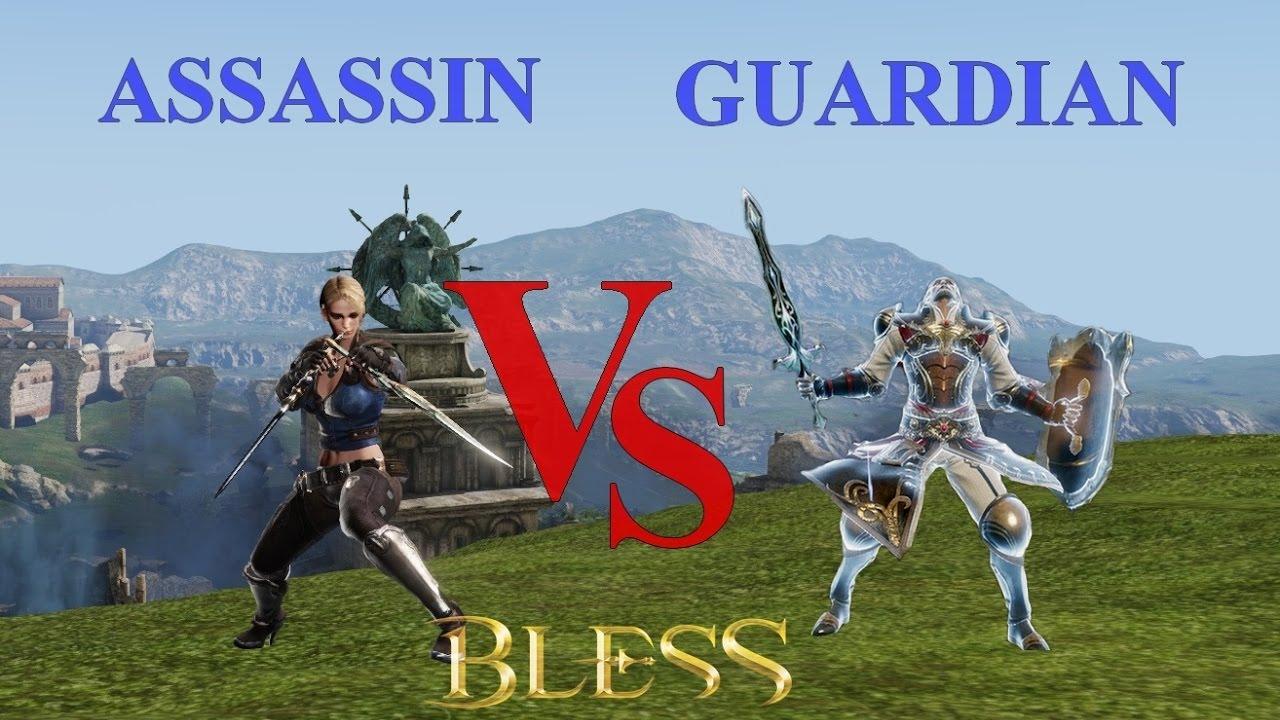 günstiger Preis extrem einzigartig erstklassiger Profi Bless Online | GUARDIAN vs ASSASSIN 1v1 PvP (50 lvl - EndGame Gear)