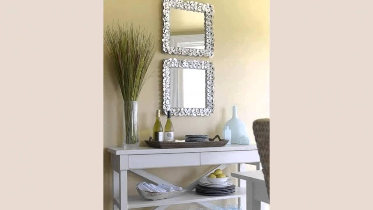 Espejos decorados con conchas de mar youtube for Marcos decorados para espejos