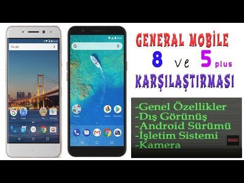 General Mobile 8 ve General Mobile 5 Plus Karşılaştırma