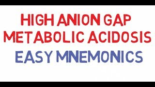 High Anion Gap Metabolic Acidosis - Easy Mnemonics
