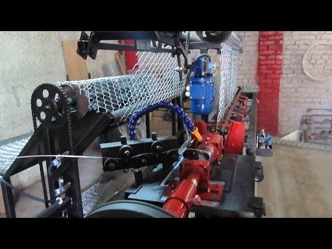 Станок для производства сетки рабицы автомат СА-2 с смоткой рулона в компакт