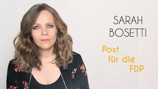Sarah Bosetti – Post für die FDP