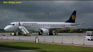 Lufthansa CityLine Embraer 190 Bydgoszcz to Frankfurt [AirClips full flight series]