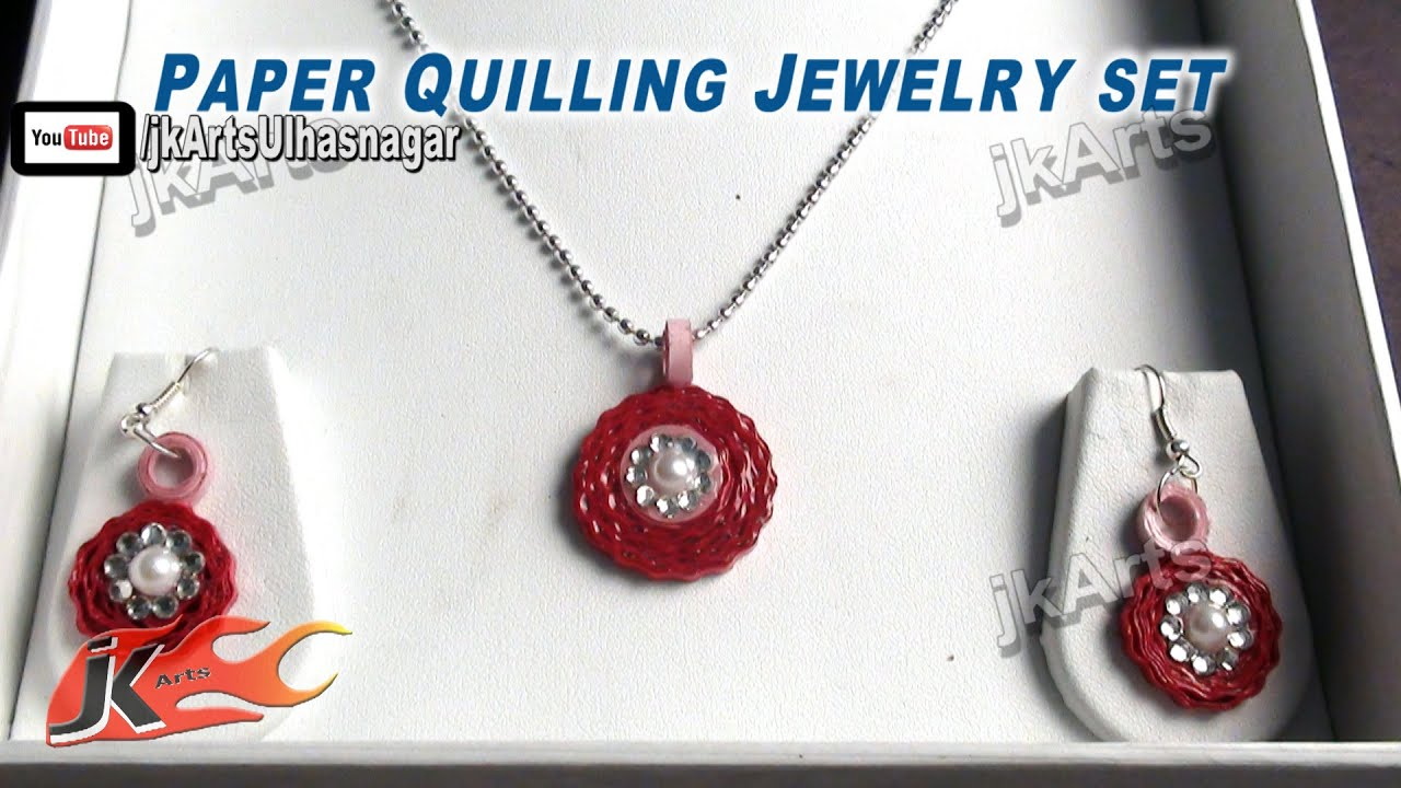 DIY Paper Quilling Jewelry Set How To Make JK Arts 376