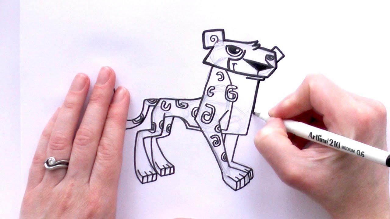 How To Draw A Cartoon Cheetah From Animal Jam  Zooshii Style  Youtube