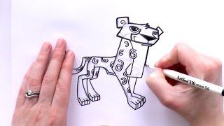 How to Draw a Cartoon Cheetah From Animal Jam - zooshii Style
