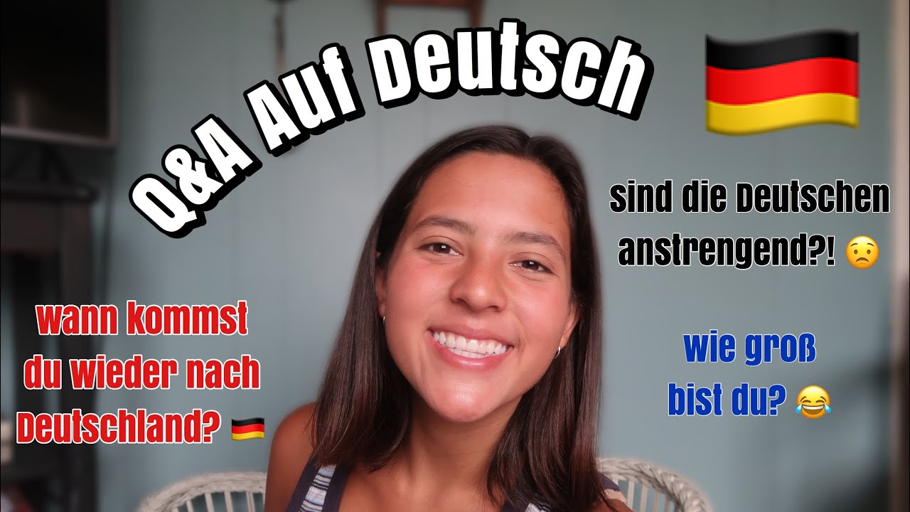 Deutsche sind unfreundlich?! Q&A (American Speaks German)
