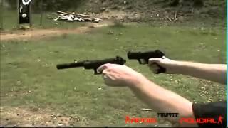 A diferença do tiro de pistola com e sem silenciador