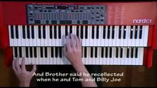 Ode To Billy Joe (organ with lyrics/subtitles) - Nord C1 Hammond B-3 Organ Clone Clavia