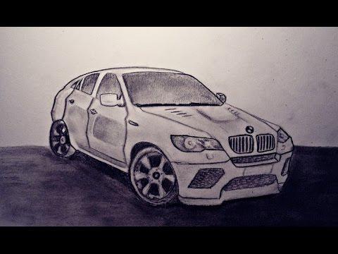 Drawing A Car Bmw X6 Youtube