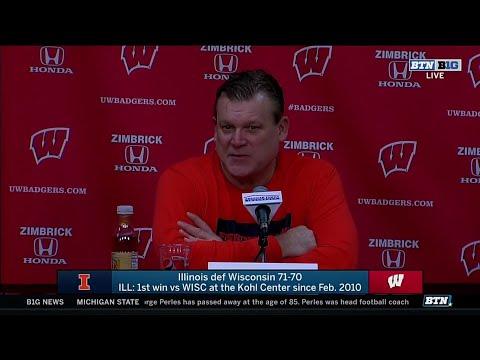 Illini Basketball | Brad Underwood Presser At Wisconsin 1/8/20