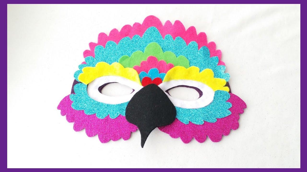 Papagan Maskesi Maske Yapimi Parrot Mask Youtube